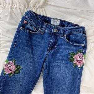 Hudson Jeans ~ embroidered skinny jean size 12